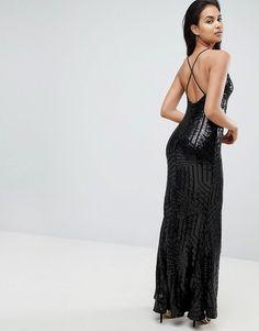 e9220ec901a Club L Cami Strap All Over Glitter Maxi Dress