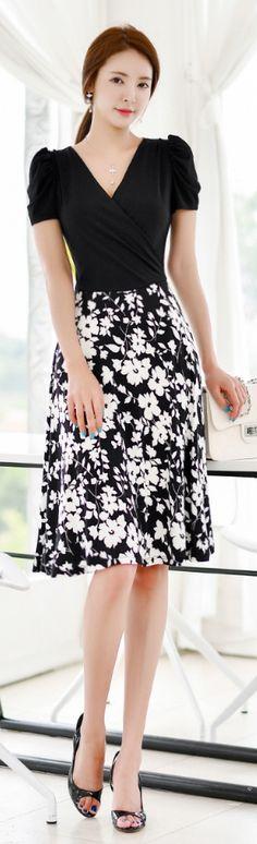 Luxe Asian Women Design Korean Model Fashion Style Dress
