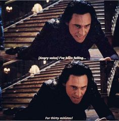best line of the movie. so awesome to see Tom Hiddleston and Benedict Cumberbatch in a marvel movie together :) XD.best line of the movie. so awesome to see Tom Hiddleston and Benedict Cumberbatch in a marvel movie together :) Marvel Jokes, Loki Thor, Tom Hiddleston Loki, Marvel Funny, Marvel Dc Comics, Marvel Avengers, Tom Hiddleston Quotes, Loki Laufeyson, Asgard