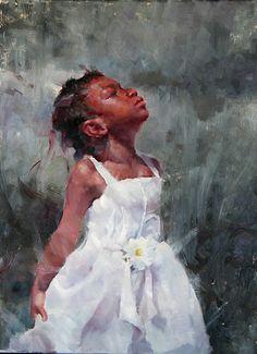 Proud by Michael Maczuga Oil ~ 24 x 18 Black Girl Art, Black Women Art, African American Art, African Art, Portrait Art, Portraits, Art Noir, Black Art Pictures, Black Artwork