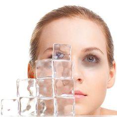 Get rid of dark circles using cosmetic herbal ice