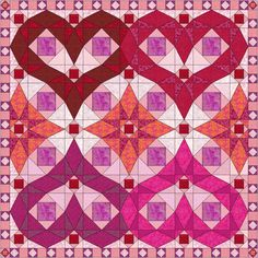 Purple Hearts Storm at Sea Quilt Pattern