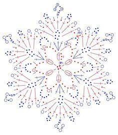 snowflakes crochet 247 schema                                                                                                                                                     More