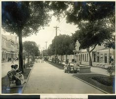 Prado promenade before current one was built  Looking east along the Prado toward Central park