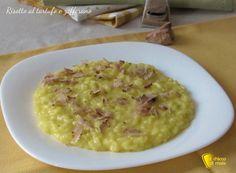 Come preparare un delizioso risotto al tartufo e zafferano, morbido, cremoso, delicato primo vegetariano adatto anche alle grandi occasioni
