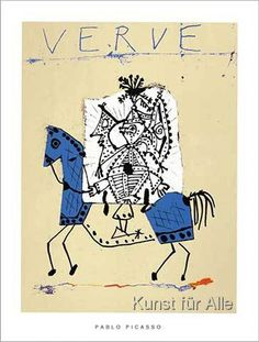 Cover for Verve, 1951 (Silkscreen print) by Pablo Picasso - art print from King & McGaw Pablo Picasso, Kunst Picasso, Picasso Art, Framed Art Prints, Fine Art Prints, Poster Prints, Silkscreen, Book And Frame, Raoul Dufy