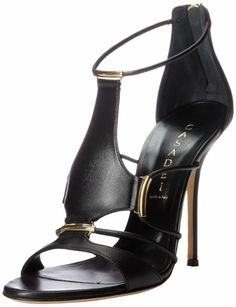 Casadei Women's Peplum Nero Dress Sandal,Black,38 EU/8 M US