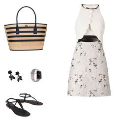 """""""Mel mix"""" by melissa-stockstill on Polyvore featuring Giambattista Valli, Cocobelle, Tory Burch and Valentino"""