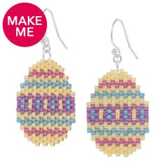 Hunting for Easter Eggs Earrings | Fusion Beads Inspiration Gallery