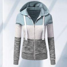 YUELANDE Women Drawstring Long Sleeve Hoodie Back Slit Crop Top Sweatshirt