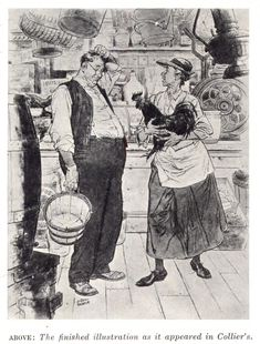 Albert Dorne Finished Illustration