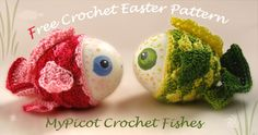 Easter Crochet Fishes ~ free pattern