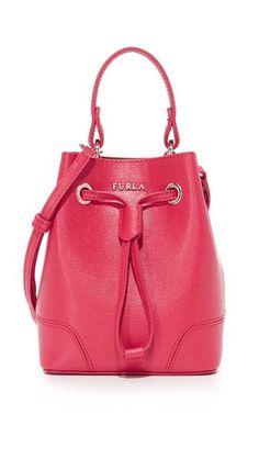 7ca06a3972c4 FURLA Stacy Mini Drawstring Bucket Bag.  furla  bags  shoulder bags  hand  bags  leather  bucket