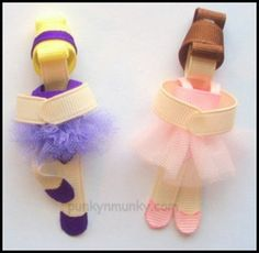 Ballerina bows. Too cute!