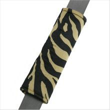 Drive in comfort with Zebra Animal Print tan and black car seat belt shoulder pad. Soft velvet-like seat belt covers in girly designs. Seat Belt Pads, Shoulder Pads, Car Seats, Girly, Cushions, Velvet, Animal, Black, Women's