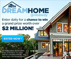 Enter for your chance to win @HGTV Dream Home 2013 >> http://www.frontdoor.com/buy/hgtv-dream-home-giveaway/55825?soc=pinterest.