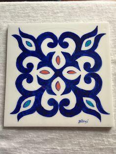 3 renk Islamic Motifs, Islamic Art, Mandala Painting, Mandala Art, Tile Patterns, Pattern Art, Stencil, Hawaiian Quilts, Quilting Templates