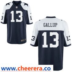 63e46d7348f Men's Dallas Cowboys #13 Michael Gallup Blue Thanksgiving Alternate  Stitched NFL Nike Game Jersey