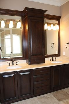 Master Bathroom Medicine Cabinet... I love the idea, not the bathroom