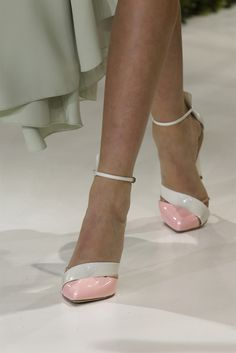 Christian Dior Spring 2013 Couture #shoes #christiandior #pumps #pastelpumps #pointy #spring2013couture