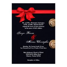 Marine Corp Wedding 5x7 Dress Blues Invitation
