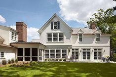 Delightful colonial farmhouse with a modern twist in the Upper Midwest Residential Architecture, Architecture Design, Extravagant Homes, Clapboard Siding, Colonial Style Homes, White Houses, Estate Homes, Exterior Design, Farmhouse Style