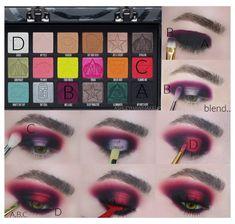 Edgy Makeup, Star Makeup, Eye Makeup Art, Eyeshadow Makeup, Gothic Eye Makeup, Jeffree Star Eyeshadow, Maybelline Eyeshadow, Makeup Geek, Makeup Kit