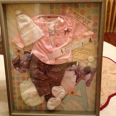 Baby Ava's Birthday shadow box!