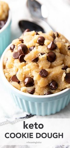 Keto Cookie Dough Recipe: indulgently sweet 'n satisfying keto cookie dough that's deliciously low carb! Super easy to make & even easier to eat! #Keto #CookieDough #LowCarb   Recipe at BeamingBaker.com Keto Cookie Dough, Cookie Dough Recipes, Keto Cookies, Healthy Cookies, Gluten Free Quick Bread, Vegan Gluten Free Desserts, Healthy Dessert Recipes, Healthier Desserts, Keto Desserts