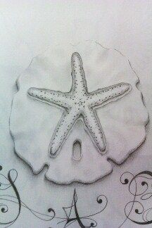 My Sand Dollar tattoo with four doves to represent special people ...