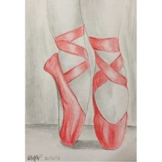 """#old #red #ballet #balletshoes #pointe #pointeshoes #color #colour #pencil #draw #drawing #art"" Photo taken by @bekycheppy on Instagram, pinned via the InstaPin iOS App! http://www.instapinapp.com (03/14/2015)"