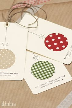 Gift Tags with Fabric Ornaments