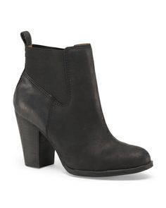 Leather Rider Booties - Shoes - T.J.Maxx and they are leather too?