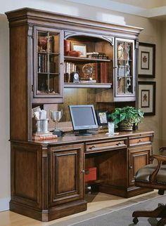 Make a statement in your home office with the Brookfield Hutch; a functional work space that handsomely keeps your work essentials organized.