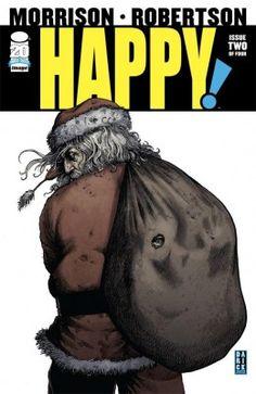Cover by Darick Robertson. Grant Morrison, Steve Dillon, Art Spiegelman, Christmas Comics, Vertigo Comics, Bad Santa, Comic Reviews, Book Reviews, Happy Images
