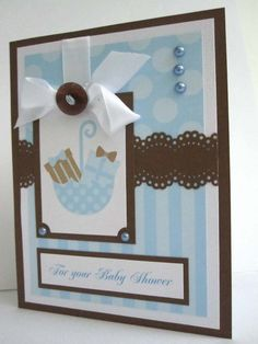 Handmade Baby Shower card for boy can be by BellaCardCreations