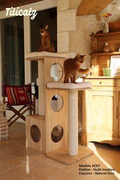 Arbre à chat design en bois Titicatz JICKY