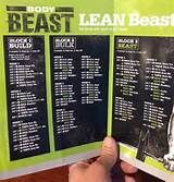 Free Improved Body Beast Workout Sheets  Body Beast Workout