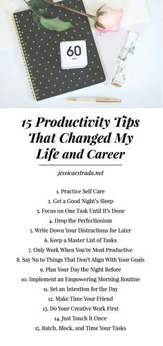 15 Productivity Tips to Help You Slay the Day | Want to learn how to increase productivity, manage your time like a boss, and plan our your day with intention? Then this post is for you! I'm sharing my top 15 productivity and time management tips that have changed my life and career. Plus, you can download your FREE productivity planner printable so you can put these productivity strategies into action.