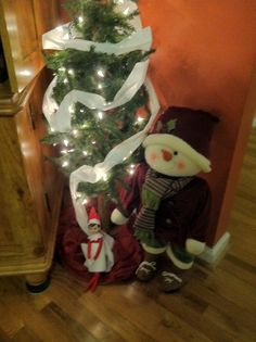 Mischievous Marvin! The Watkins elf is having too much fun!
