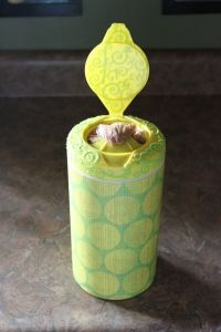 Use an empty wipes container to store all your grocery bags!