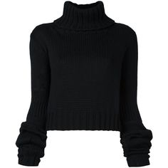 Io Ivana Omazic Oversized Sleeve Cropped Jumper (2 335 SEK) ❤ liked on Polyvore featuring tops, sweaters, black, oversized tops, sleeve sweater, oversized jumper, long-sleeve crop tops and oversized cropped sweater
