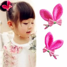 Girl Baby Hair Clips Kawaii Rabbit Ear Hair Clip Cute Hairpins Fashion Kids Clips Barrettes Accessories Pink/Blue/Gold/Red-in Hair Accessories from Mother & Kids on Aliexpress.com | Alibaba Group