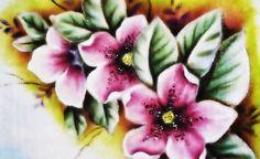 Azaleias - Pintura no Tecido