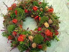 Herbst -Moos -Früchtmix