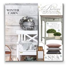 """Winter Cabin"" by moomoofan1972 ❤ liked on Polyvore featuring interior, interiors, interior design, home, home decor, interior decorating, Hawkins, Lene Bjerre and Uttermost"
