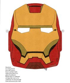 iron man mask | Print IronMan mask