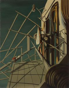 Unicorns came down to the sea, 1948 Artwork by Kay Sage Hand-painted and Art Prints on canvas for sale,you can custom the size and frame Connecticut, Yves Tanguy, Moonlight Painting, Surrealism Painting, Unusual Art, Elements Of Art, Fantastic Art, Surreal Art, Canvas Art Prints