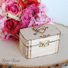 Rustic Wedding Ring Box Keepsake or Ring Bearer Box