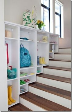 Such a great way to keep things organized in the morning and when coming home from school or work!
